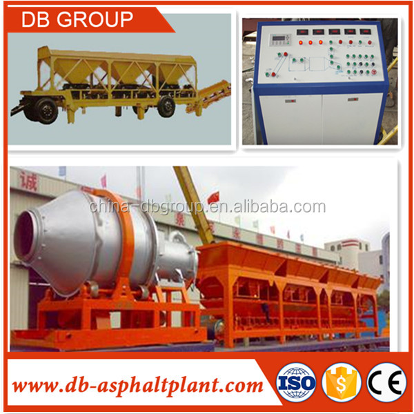 Portable Hot Mix Asphalt plant / Mobile mini Asphalt Batcher Plant