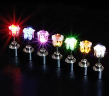NEW LED Earrings Glowing Light Up Crown Ear Drop with Pendant Stud Stainless