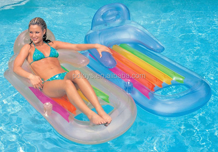BSCI,ICTI PVC/TPU water beach inflatable pool lounge chair