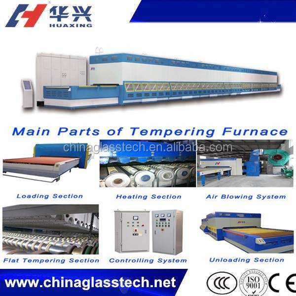 Double row fan Horizontal Roller Hearth Forced Convection glass laminated furnace