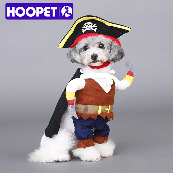New Funny Pet Clothes Caribbean Pirate Cat Costume Suit