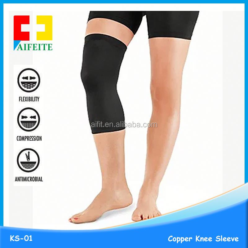 Allwin antiskip compression long knee sleeve, knee calf protection, knee support brace