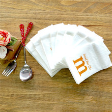 Customized Design white paper printed restaurant napkins