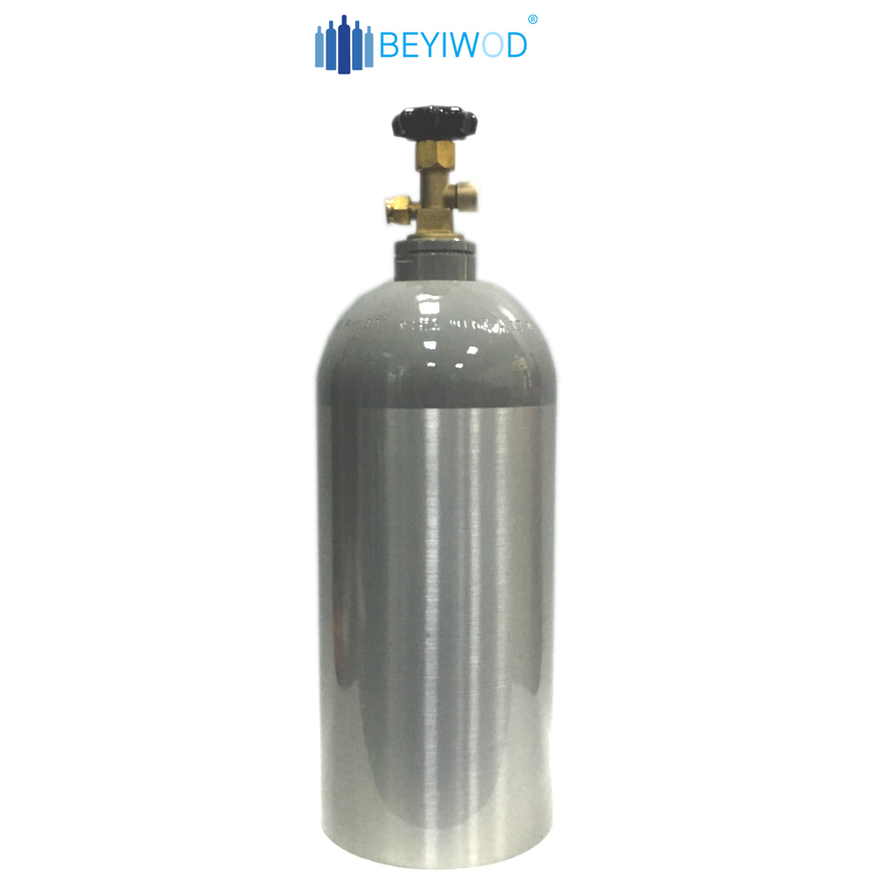 High pressure 2.5lb 5lb 10lb 15lb 20lbs co2 gas tank co2 <strong>cylinder</strong>