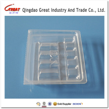 custom clear plastic medical disposable injection trays