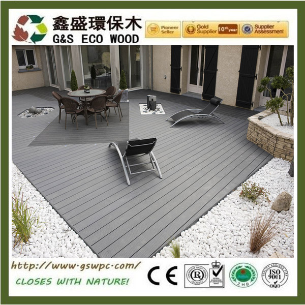 Exterior balcony floor covering wood plastic composite decking Weather-resistant wpc decking floor