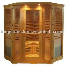3-4 people ceramic red cedar infrared sauna with luxury design and CD/ozone
