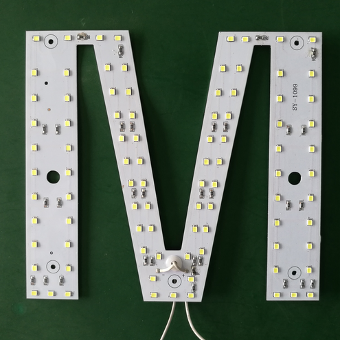 Battery operated led board panel pcb electronic sign capital letter N light source
