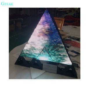 customized size triangle led display full color screen