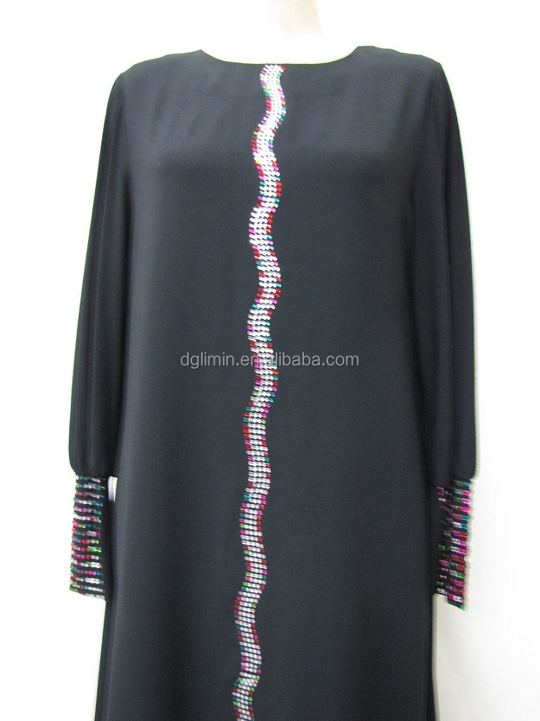 Latest Abaya Designs 2015 Muslim Dress Arabian Robe Islamic Clothing Wholesale Beading