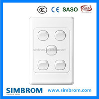 SAA certificate 5 G 2 way push button wall switch