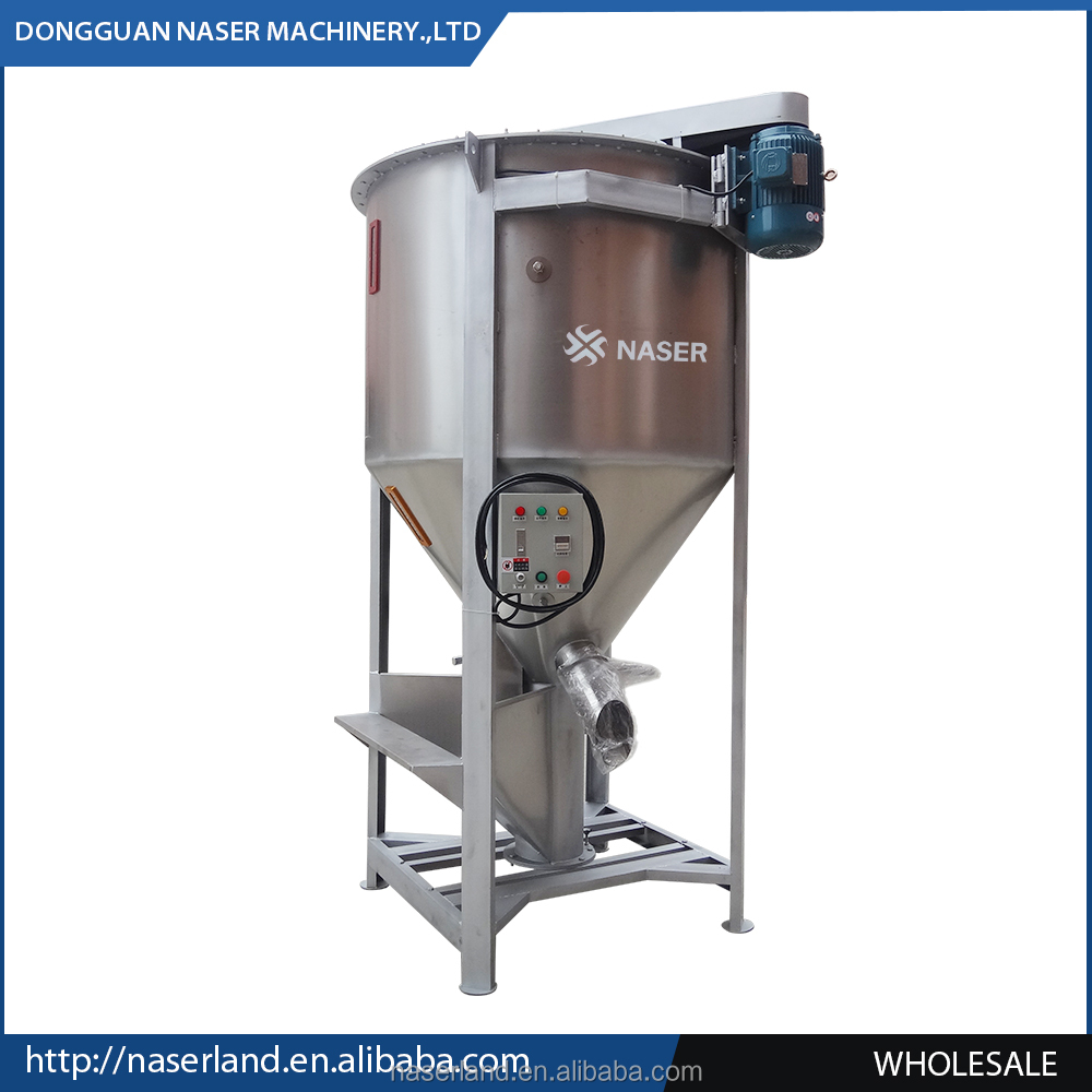 hot sale automatic drying/mixing/coloring horizontal mixer unit