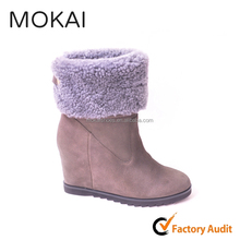 MK057-1ladies leather women winter snow boots for women