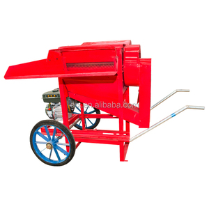 Hand push gasoline engine rice thresher machine 500kg per hour
