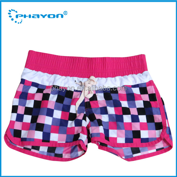 young girl swim trunk,lattice girls swim short,sexy girls board short