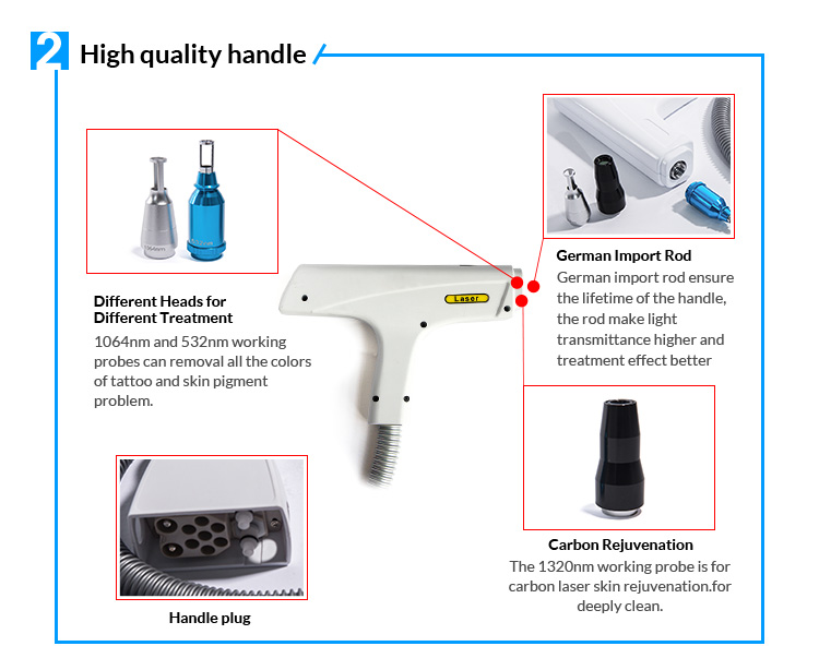 Lowest Cost Vertical Q Switched Nd Yag Laser Tattoo Removal Machine