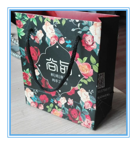 Promotional Custom Luxury paper shopping color printing bag wholesale