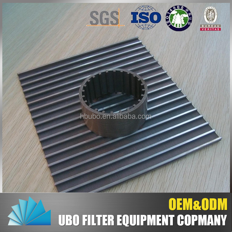 Stainless Steel Johnson Screen Wedge Wire Pallet For Pulp Filter