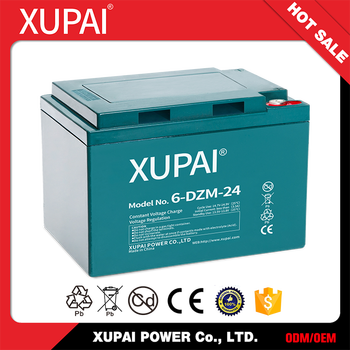 6-DZM-24 XUPAI Sealed E Bike Battery Pack 12v 24ah