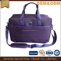 2017 bag factory manufacture luggage bag fashion malfunction travel Simple design purple business nylon luggage