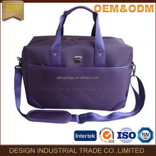 2017 bag factory manufacture luggage bag fashion malfunction travel Simple design purple business nylon luggage