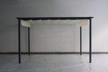 flat roof tent for garden and outdoor gazebo