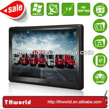 2014 new sale big screen 7 inch motor vehicle navigator with big memory latest lorry truck map