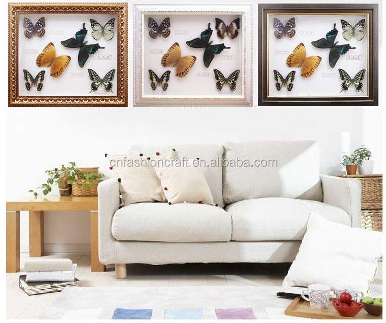 2015 New real butterfly gift picture frame for Art Collection or home decoratons