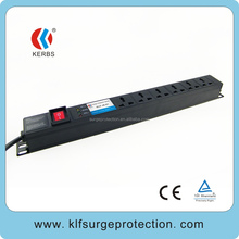 individually switched surge protector /universal socket surge protector