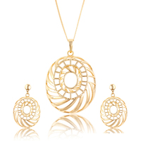 63668 xuping jewelry making supplies cheap fashion 18k gold earring and pendant saudi arabia jewelry sets