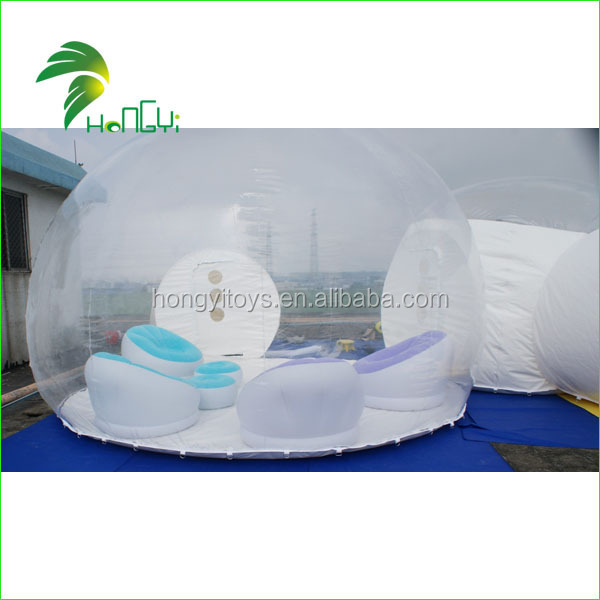 PVC Material Inflatable Clear Transparent Bubble Tent / High Quality Inflatable Bubble