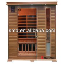 Far infrared sauna with color lights and cd