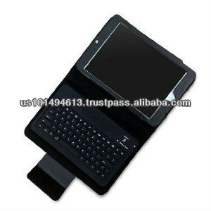 Removable Detachable Wireless Bluetooth Keyboard PU Leather Case Tablet Stand for Apple iPad Mini - Black