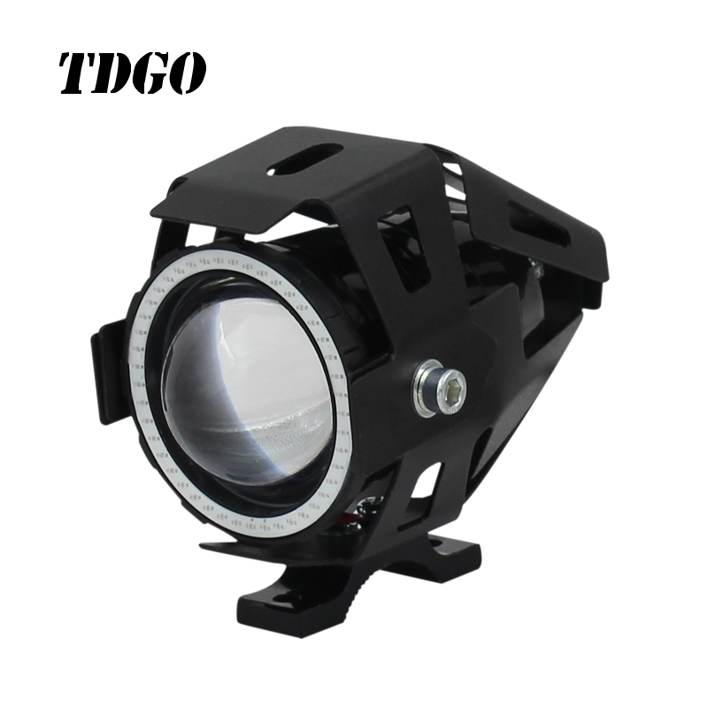 12v-90v C.ree led headlight motorcycle with anger devil eyes for Halley Yamaha 110 125 250 motorcycle