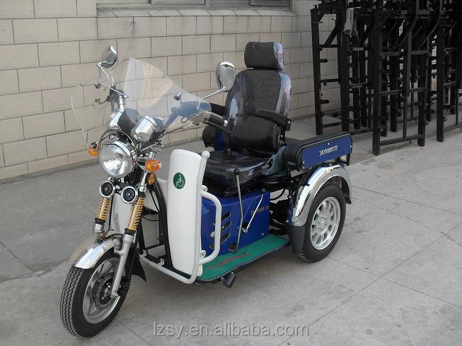 hot sale gas mini handicap disabled trike three wheel scooter for deformed passenger (SY110ZK-A)