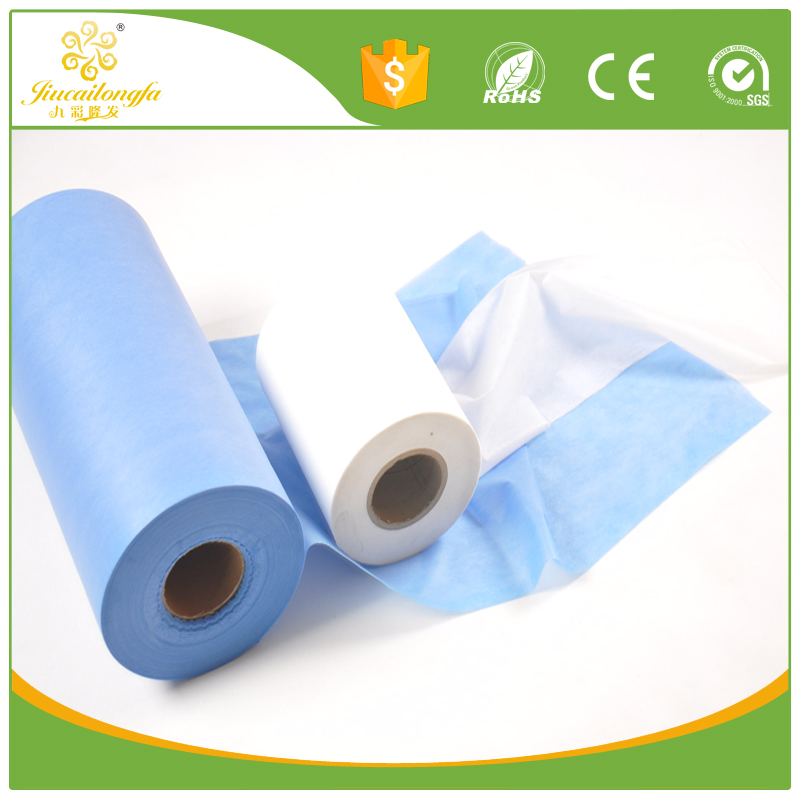 Medical waterproof pla pp spunbond non woven hospitality fabric for hospital gown/ hospital bed sheet