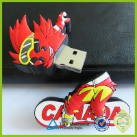 OEM 1GB 2 tb rubber pvc custom rabbit cartoon usb flash drive