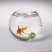 Round water clear acrylic fish tank for home decoration