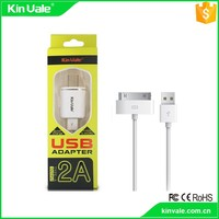 High efficiency fast charge US,home charger and data line 2 in 1 for Iphone 4
