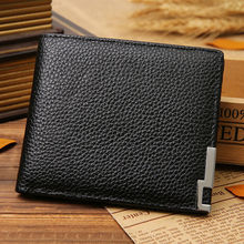 Fashion Card Holder Purse Men Stylish Business Leather Wallet