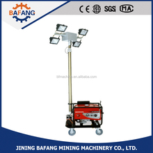 Gasline engine mobile automatic lifting light tower,vehicle-mounted light tower
