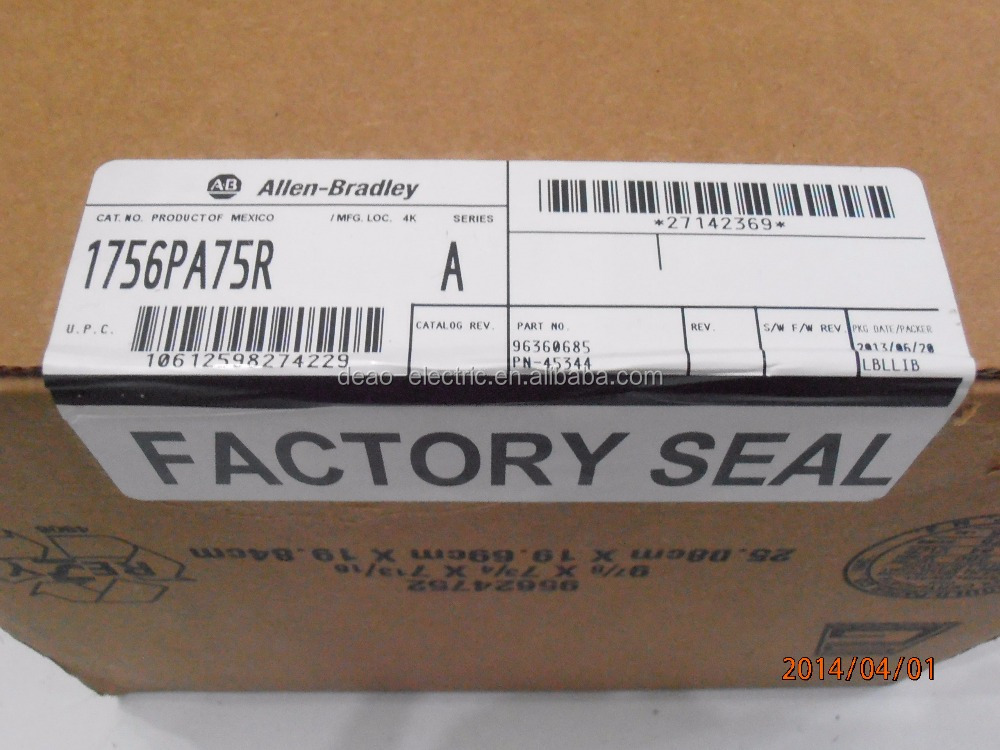 Allen-Bradley ControlLogix 1756-PA75R Panel Mount Redundant Power Supply 85 - 265 VAC 1756-PA75R
