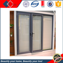 Aluminium safty and easy to put mosiqutio yarn fan 3 panel sliding glass door
