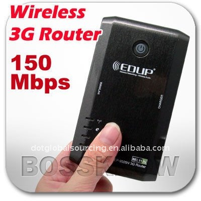 Hot Arrival for you !!!!EDUP EP-9505N 3G Router 150Mbps 802.11N USB Portable Wireless Wifi Modem With Battery And SIM Slot