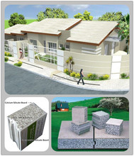 New tech, low cost, high quality prefab house - Daquan lightweight EPS cement sandwich wall panel building system.