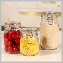 high quality 500ml glass storage jars Flip Lid and Metal Closure with stock available
