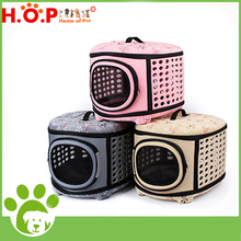 Wholesale Pet Products Factory Outdoor Dog House Foldable Eva Ventilated Bag Airline Pet Carrier