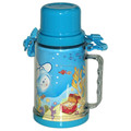 Double walls plastic water bottles with cup and handle