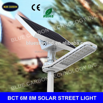 Durable factory sale all in one LED Solar street light 6m