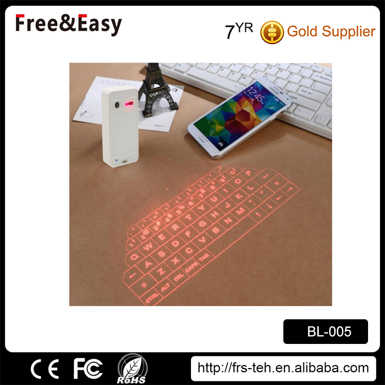 Mini rechargeable lithium battery virtual bluetooth keyboard
